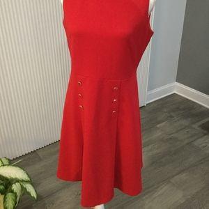 Red Ivanka Trump classy dress